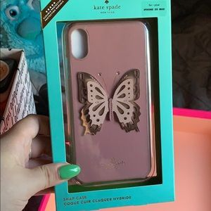 Like new Kate Spade iPhone XS Max butterfly case